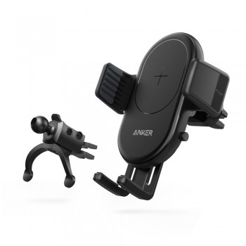 Anker B2551 PowerWave 7.5 Fast Wireless Charging Car Mount with QC3.0 Car Charger - Black