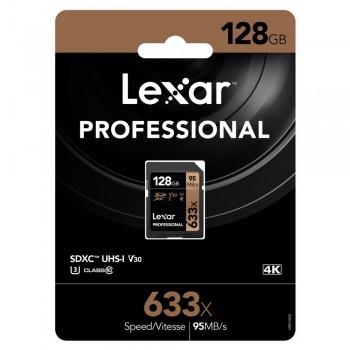 "Lexar 633X Professional 128GB V30 U3 SDHCâ""¢/SDXCâ""¢ UHS-I Memory Cards (up to 95MB/s read, Write 45MB/s)"