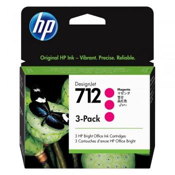 HP 712 Magenta DesignJet Ink Cartridge 3-Pack