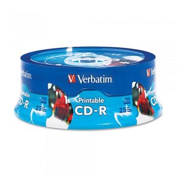 Verbatim Inkjet Printable CD-R 700MB 80min (25pcs/Spindle)