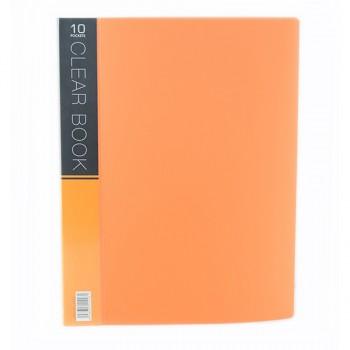 CBE Merry Colour Clear Book VK10 A4 ORANGE ( ITEM NO : B10 53 O )