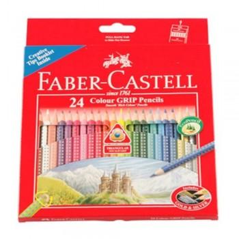 Faber Castell 24 Colour Grip Pencils (Item No:B05-02) A1R2B190