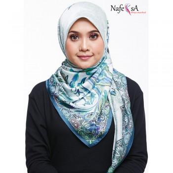Nafeesa Floral Lesion Blue Shawl