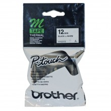 Brother M-K231 Black on White 12mm Tape