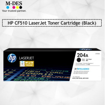 HP CF510A Black LaserJet Toner Cartridge (204A)