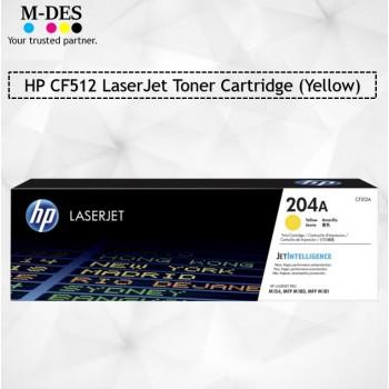 HP CF512A Yellow LaserJet Toner Cartridge (204A)