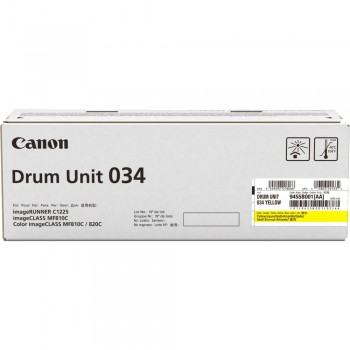 Canon MF810Cdn Yellow Drum Toner 034