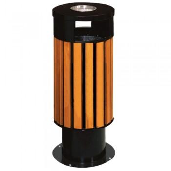 Powder Coat+Wood Round Bin LD-WORB-248/W (Item no: G01-136)