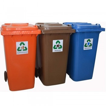 Recycling Bins with Foot Pedal 120L 3 IN 1 (item no:G01-309)