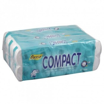 Cutie Compact Twin Ply Tissue Roll - 3 x 10 Rolls