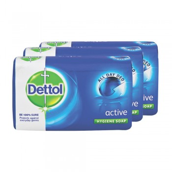 Dettol Body Soap Active 65g x 3's