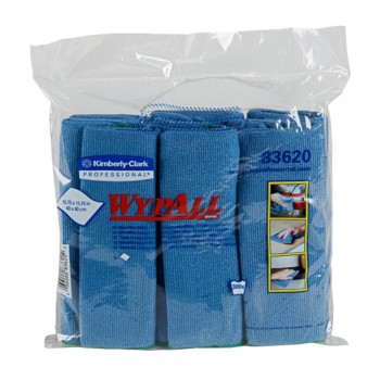 WYPALL Microfibre Cloths - Blue x 6's/Pack