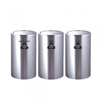 Stainless Steel FlipTop Bin RECYCLE-221/SS (Item no: G01-157)