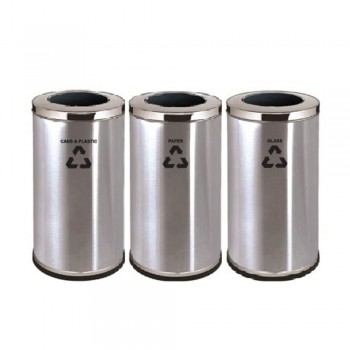 Stainless Steel Open Top Bin RECYCLE-222/SS (Item no: G01-158)