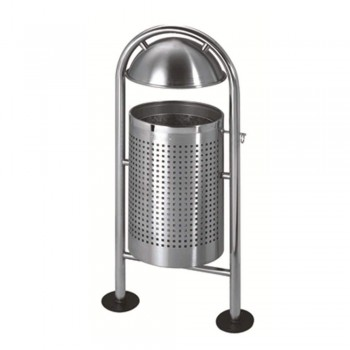 S.Steel Round Bin FlipTop LD-ODB096/SS (Item no: G01-139)
