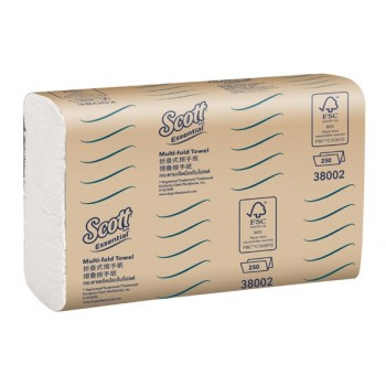 SCOTT® Essential Hand Towel - 1ply,  16packs x 250sheets