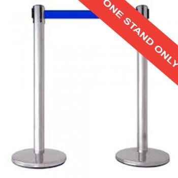 Stainless Steel Q-Up Stand — Self Retractable Belt (QPT-102/SS) (Item No: G05-60)