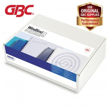 GBC WireBind 21 Loops - 6mm, A4, 46 Sheets, White