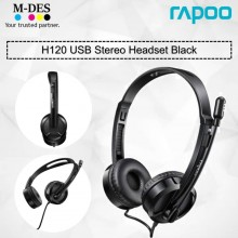 RAPOO H120 USB Stereo Headset (Black)