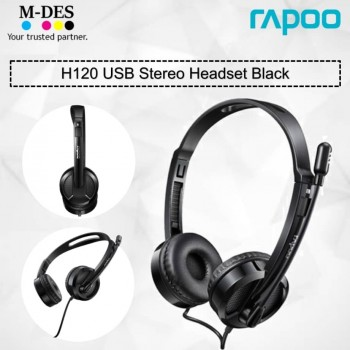 RAPOO H120 USB Stereo Headset (Black)