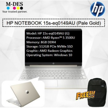 HP Notebook (15s-eq0149AU) - Pale Gold