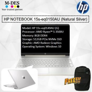 HP Notebook (15s-eq0150AU) - Natural Silver