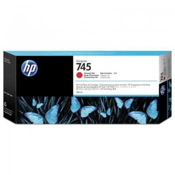 HP 745 300-ml DesignJet Chromatic Red Ink Cartridge (F9K06A)