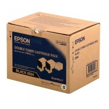 Epson SO50594 Double Black Toner Cart Pack (Item No:EPS SO50594)