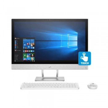"HP Pavilion 24-R102D 23.8"" FHD Touch AIO Desktop PC - Amd Ryzen 3 2300U, 8gb ddr4, 1tb, Vega 8, W10"