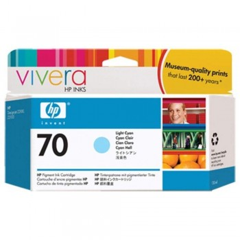 HP 70 130-ml Light Cyan Ink Cartridge (C9390A)