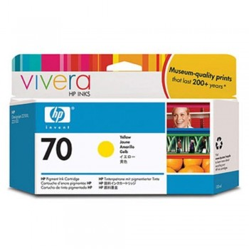 HP 70 130-ml Yellow Ink Cartridge (C9454A)