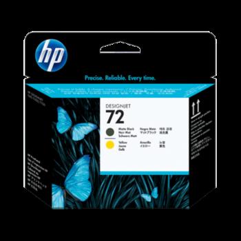 HP 72 Matte Black and Yellow Printhead (C9384A)