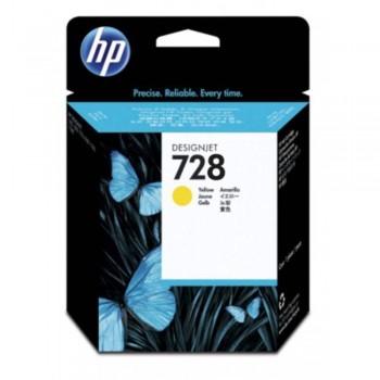 HP 728 40-ml Yellow DesignJet Ink Cartridge (F9J61A)