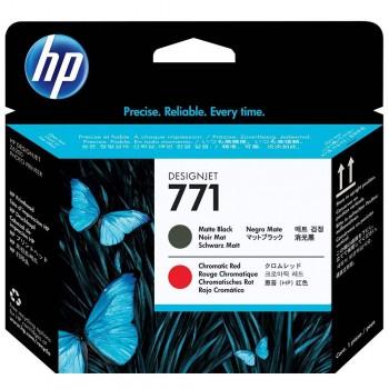 HP 771 DesignJet Printhead - Matte Black/Chromatic Red (CE017A)