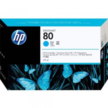 HP 80 DesignJet Ink Cartridge 350-ml - Cyan (C4846A)