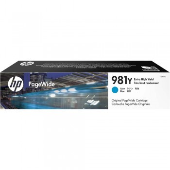 HP 981Y Extra High Yield Cyan Original PageWide Cartridge (L0R13A)