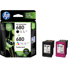 HP 680 Ink Cartridge Color and Black Ink Combo 2-Pack - X4E78AA