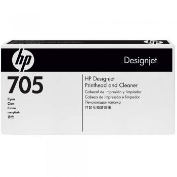 HP 705 DesignJet Printhead/Printhead Cleaner - Cyan (CD954A)