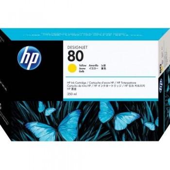 HP 80 DesignJet Ink Cartridge 350-ml - Yellow (C4848A)