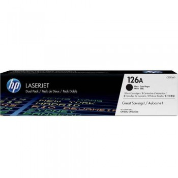 HP 126A Black Dual Pack LaserJet Toner Cartridges (CE310AD)