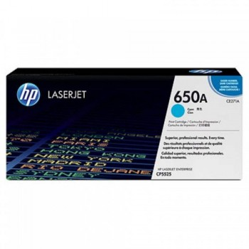 HP 650A Cyan LaserJet Toner Cartridge (CE271A)