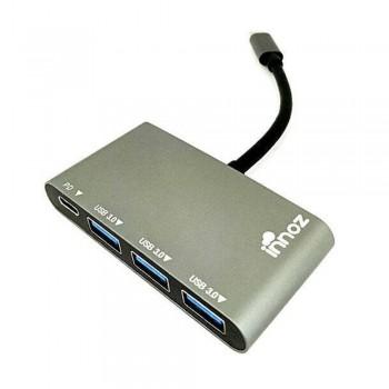 Innoz InnoZone C2 3-Port Type-C USB 3.1 Data Hub - Space Gray