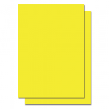 Fluorescent Color Label Sticker - A4 size - 100 sheets - Yellow (Item No: C01-05 YEL)