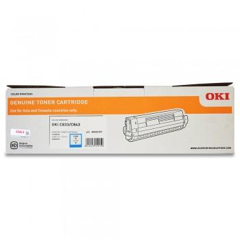 OKI C833 Toner cartridge 10k pages - Cyan (46443107)