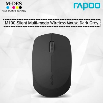 RAPOO M100 SILENT 2.4G Wireless Mouse (Dark Grey)