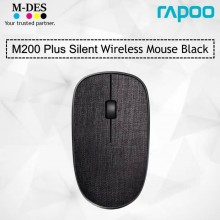 RAPOO M200 Plus Silent Fabric Version Wireless Optical Mouse (Black)