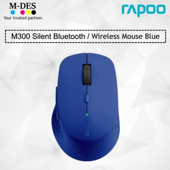 RAPOO M300 SILENT 2.4G Wireless Mouse (Blue)