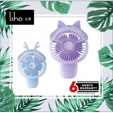 LIHO Holding a Small Fan Spray Humidifier (Pink Rabbit)