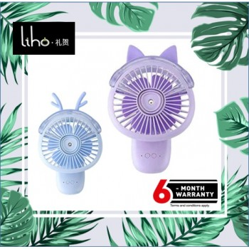 LIHO Holding a Small Fan Spray Humidifier (Blue Deer)