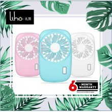 LIHO Cute Portable Handheld Fan Mini USB Rechargeable (White)